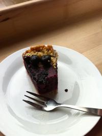Veganistische Cheescake met blauwe bessen