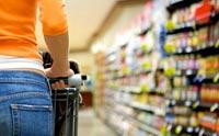Veel bewerkt voedsel in de supermarkt